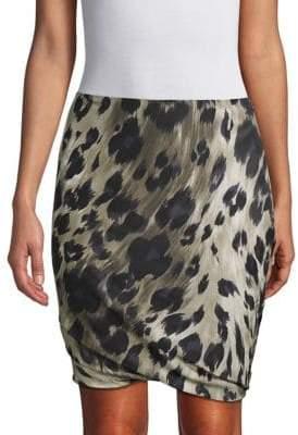 Pauw Printed Bubble Silk Skirt
