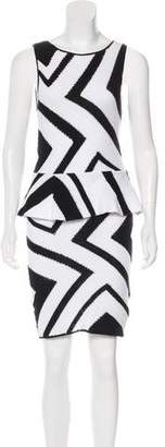 Alice + Olivia Peplum Sleeveless Knee-Length Dress