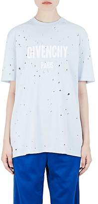 Givenchy Women's Logo Distressed Cotton T-Shirt