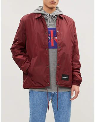 CK Calvin Klein Monogram logo-print cotton-jersey hoody