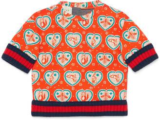 Baby heart icons print sweatshirt $265 thestylecure.com