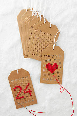 Anthropologie Embroidery Pattern Gift Tags