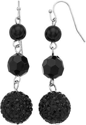 Black Bead Drop Earrings
