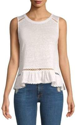 Generation Love Mila Ruffle Linen Tank Top