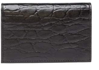 Bosca Victoria Croc Embossed Leather Card Case