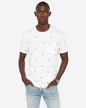 Express Flamingo Crew Neck T-Shirt