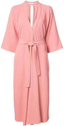 Tome tie waist robe dress
