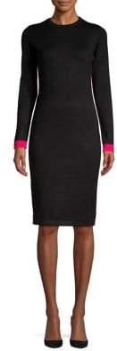 Eliza J Striped Contrast Sheath Dress