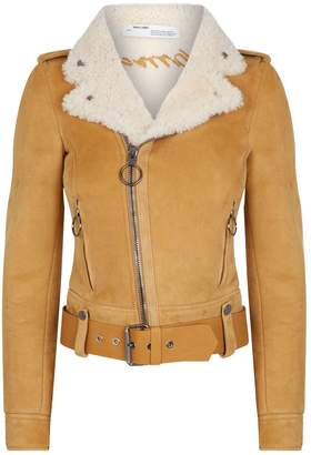 Off-White Off White Shearling Biker Jacket
