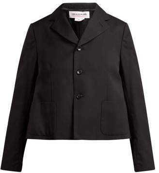 Comme des Garcons Ruffle Trimmed Wool Jacket - Womens - Black