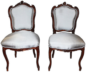 One Kings Lane Vintage French Salon Chairs - Set of 2 - House of Charm Antiques