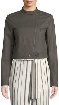 Lafayette 148 New York Lisette Cotton Motor Jacket