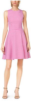Michael Kors Gingham Wool Dance Dress