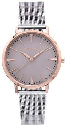 Vince Camuto Silvertone & Rose Goldtone Mesh-bracelet Watch