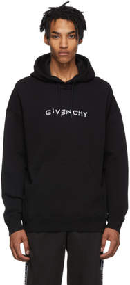Givenchy Black Hand-Embroidered Logo Hoodie