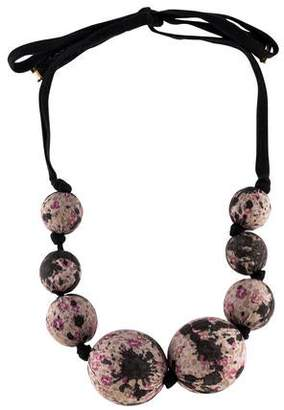 Louis Vuitton Fabric Bead Necklace