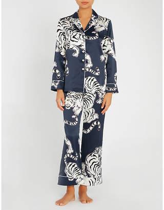 Olivia Von Halle Lila Rola silk pyjama set