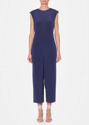 Tibi Silk Open Back Jumpsuit