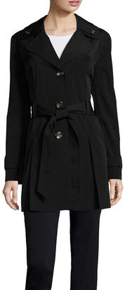 LIZ CLAIBORNE Liz Claiborne Double Collar Belted Trench Coat - Tall $172 thestylecure.com
