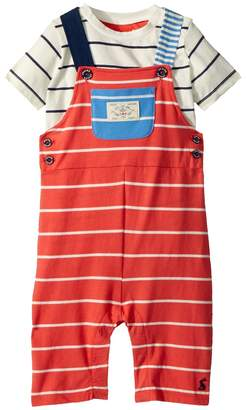 Joules Kids Jersey Overall T-Shirt Set Boy's Active Sets