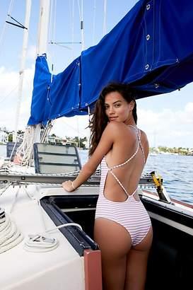 Beach Riot Farrah One-Piece Striped Swimsuit