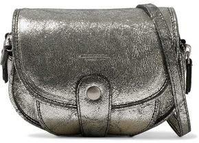 Jerome Dreyfuss Momo Metallic Cracked-Leather Shoulder Bag