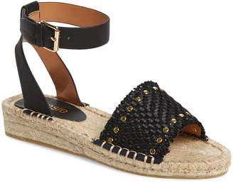 Kensie Alabama Studded Espadrille Ankle Strap Sandal
