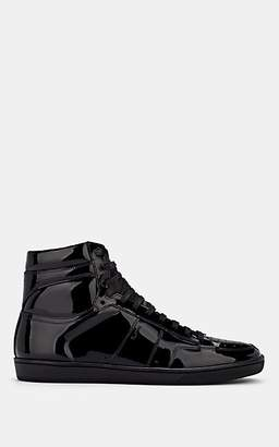 Saint Laurent Men's SL/10H Patent Leather Sneakers - Black