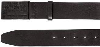 DSQUARED2 40mm Leather Belt W/ Logo Buckle