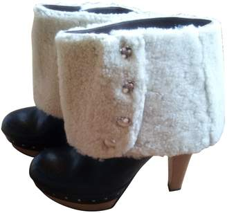 Marni Black Leather Mules & Clogs