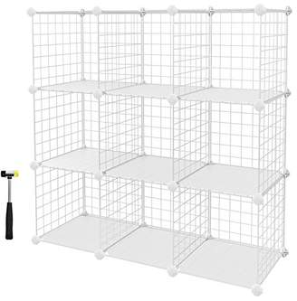 SONGMICS 9-Cube Metal Wire Storage Cubes