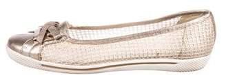 Stuart Weitzman Leather Round-Toe Flats