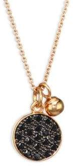 ginette_ny Mini Black Diamond Disc Chain Necklace