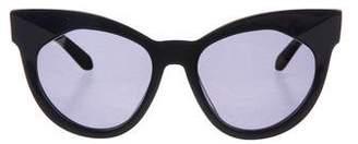 Karen Walker Oversize Cat-Eye Sunglasses