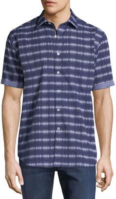 Bugatchi Classic-Fit Short-Sleeve Sport Shirt