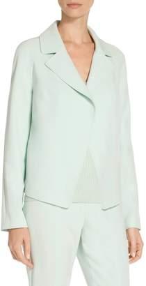St. John Bella Double Weave Raglan Jacket