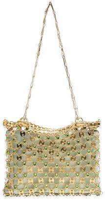 Paco Rabanne gold and green Flash 1969 chain cross body bag