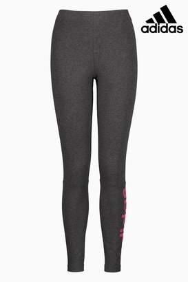 Next Womens adidas Dark Grey Essential Linear Legging