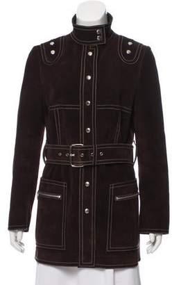 Michael Kors Belted Suede Jacket