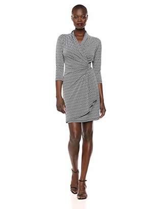 e1c165cf4be Karen Kane Women s 3 4 Sleeve Cascade WRAP Dress