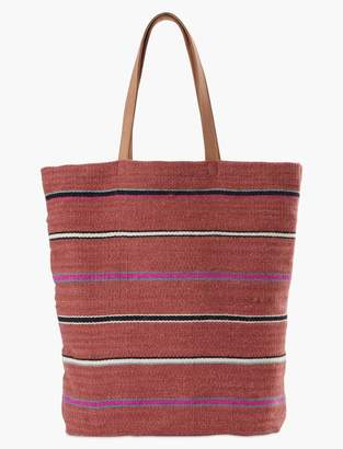 Striped Fabric Tote