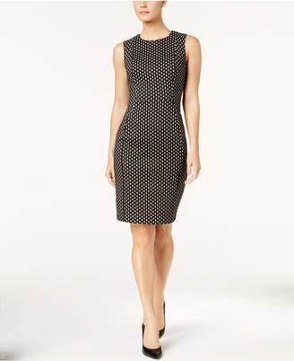 Calvin Klein Dot-Print Sheath Dress