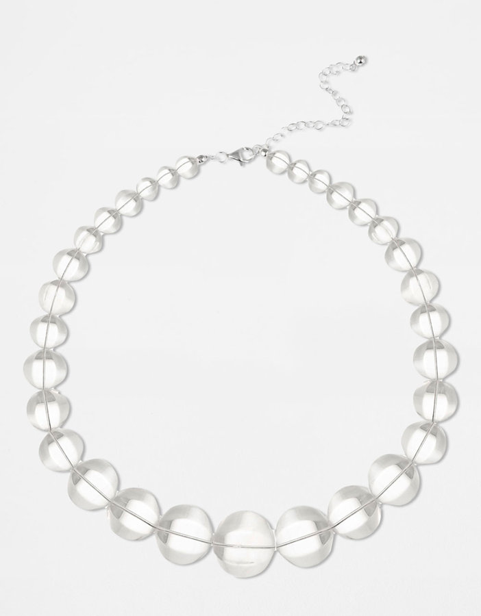 Lord & Taylor Graduated Faceted Gemstone Necklace