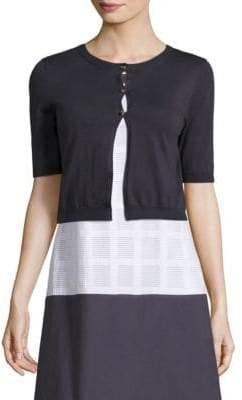 Peserico Cropped Lightweight Cotton Cardigan