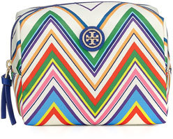 Tory BurchTory Burch Brigitte Chevron Nylon Cosmetics Bag, Multi