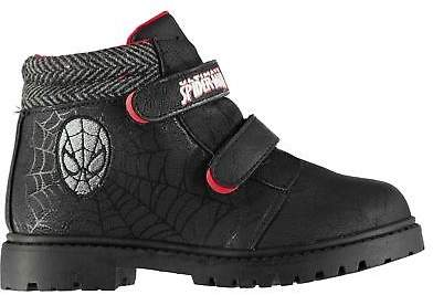 Kids Boys Boots Infant Rugged Padded Ankle Collar Pull On Hook and