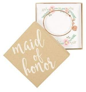 Cathy's Concepts Maid of Honor Bracelet with Heart Pendant