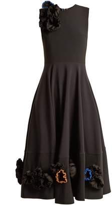 Roksanda Zennia flower-appliqué crepe dress