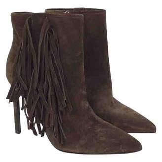 Saint Laurent Leather mocassin boots