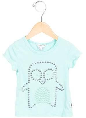 Little Marc Jacobs Girls' Embellished Short Sleeve Top